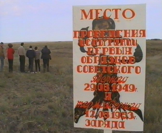 Researchers visit the site of the first Soviet nuclear tests